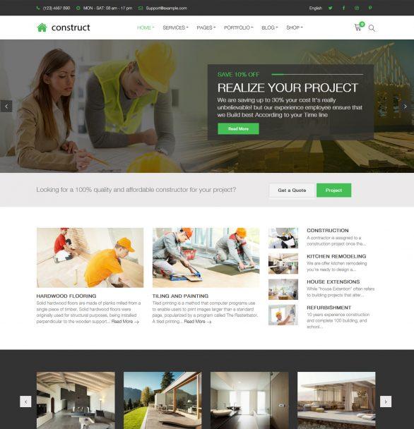 Construct – Construction Renovation Building Business WordPress Theme
