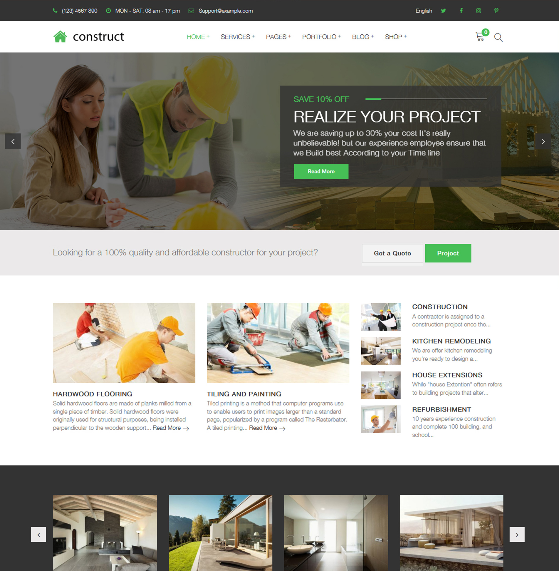Construct – Construction Renovation Building Business WordPress Theme
