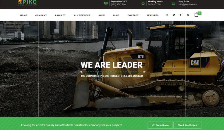HTML5 Construction Company Building Business Theme – Pikocon