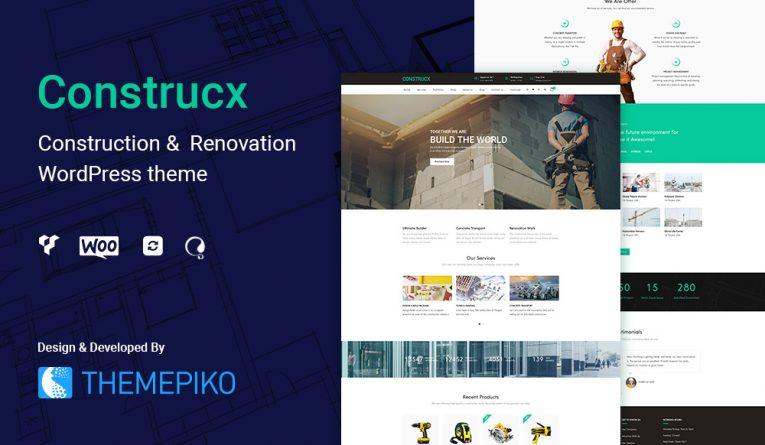 Construcx – Construction WordPress Theme
