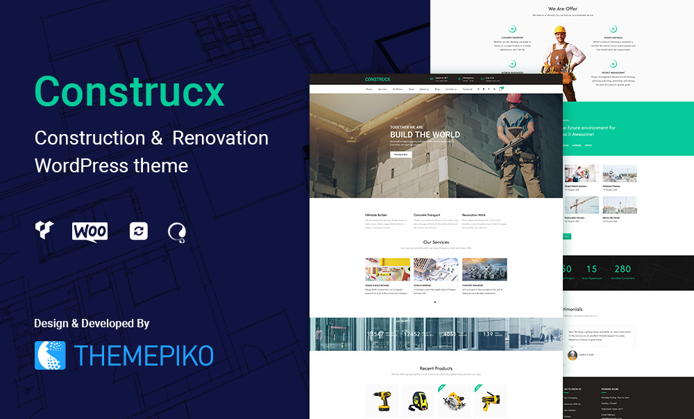 Construcx – Construction WordPress Theme