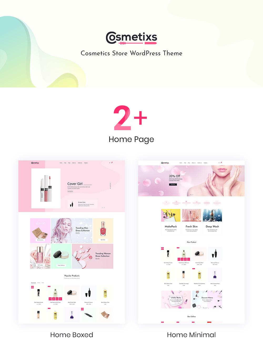 woocommerce cosmetics theme