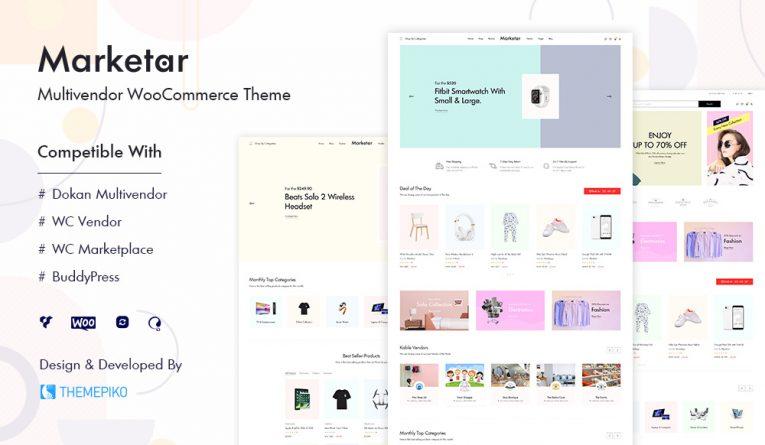Marketar – Multi Vendor Marketplace WordPress Theme