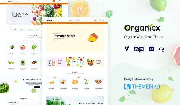Organicx – Organic & Food WooCommerce WordPress Theme