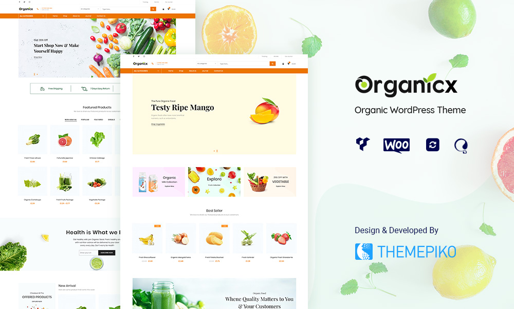 Organicx – Organic & Food WooCommerce WordPress Theme