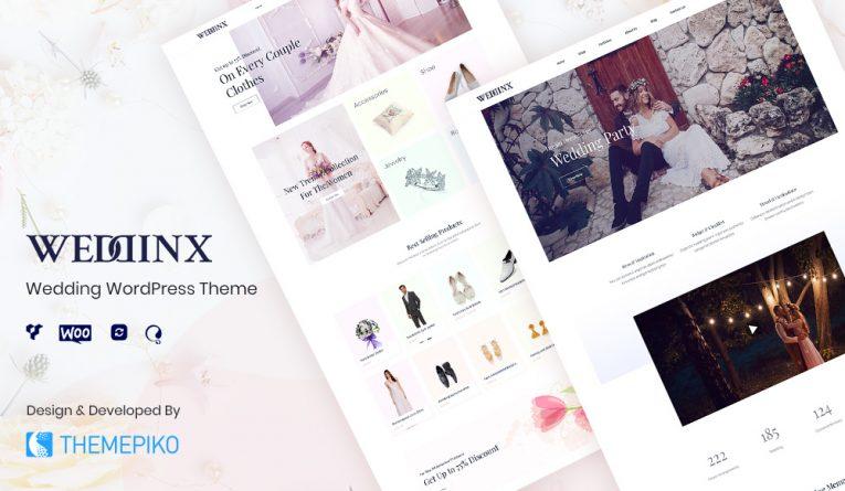 Weddinx – Wedding WordPress WooCommerce Theme