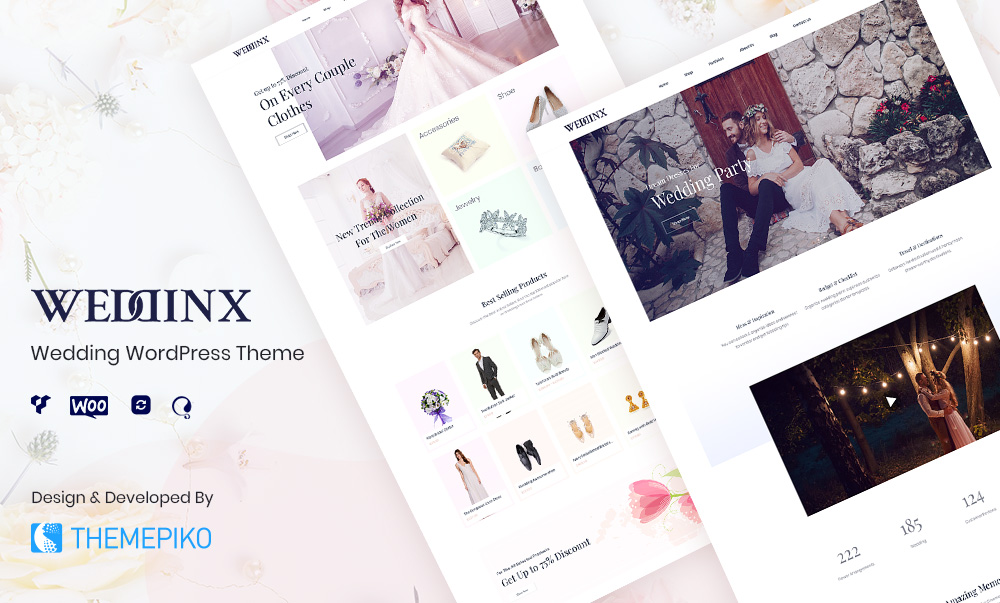 Weddinx – Wedding WordPress WooCommerce Theme