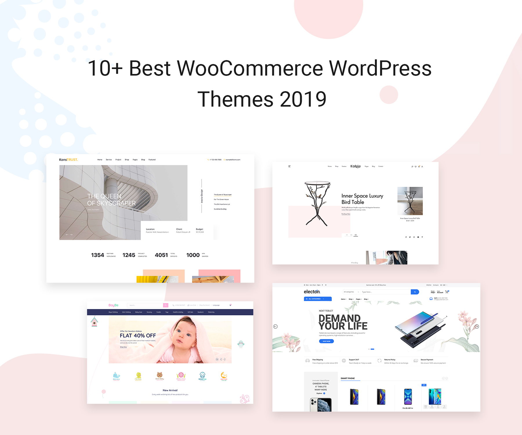 10+ Best WooCommerce WordPress Themes 2019